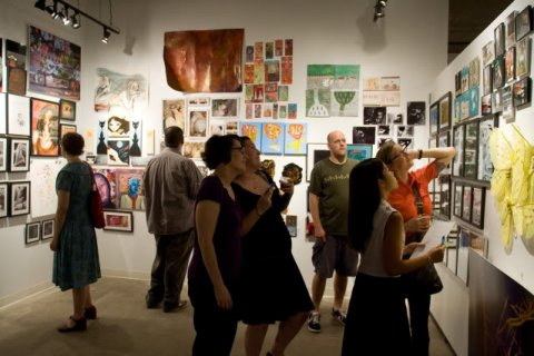 From the opening of the artshow at ApW Art Gallery